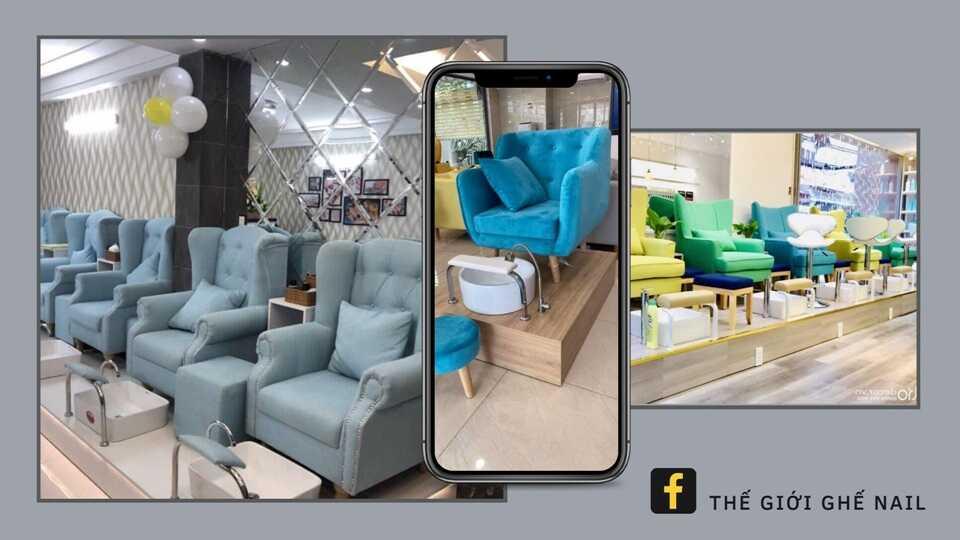 Ghế nail giá rẻ đẹp được ưa chuộng tại TPHCM &Hà Nội