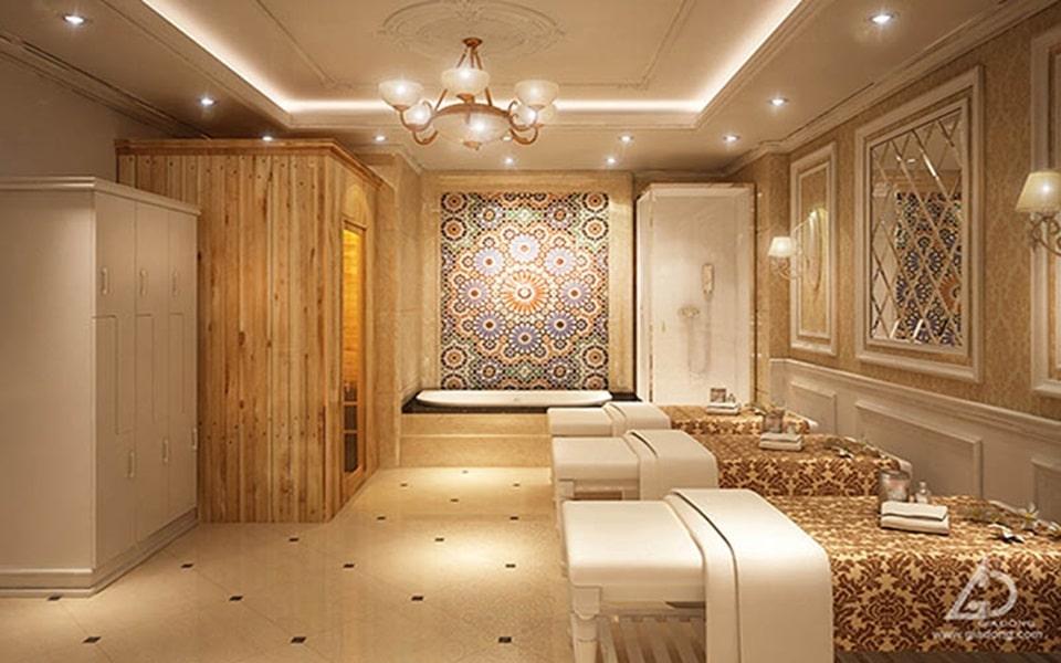 Thiết Kế phòng tắm Spa bằng gỗ tự nhiên