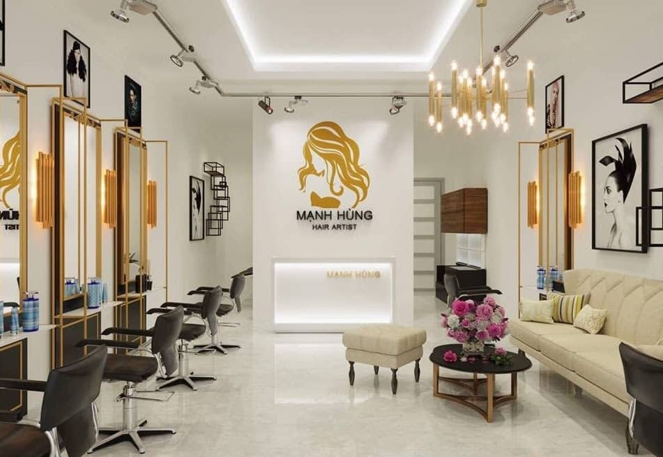 Trang trí tiệm tóc đẹp đơn gian