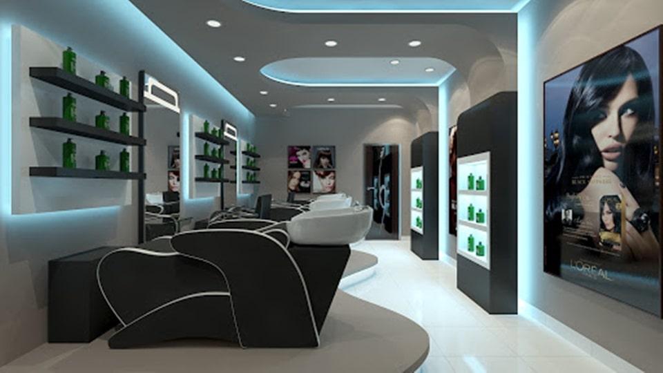 Thiết kế khu gội đầu cho tiệm tóc
