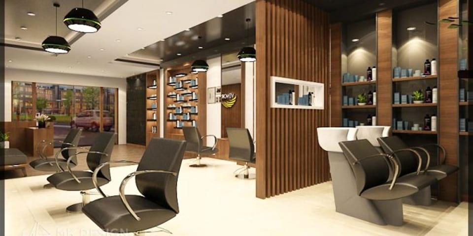 Mẫu salon tóc thiết kế hiện đại