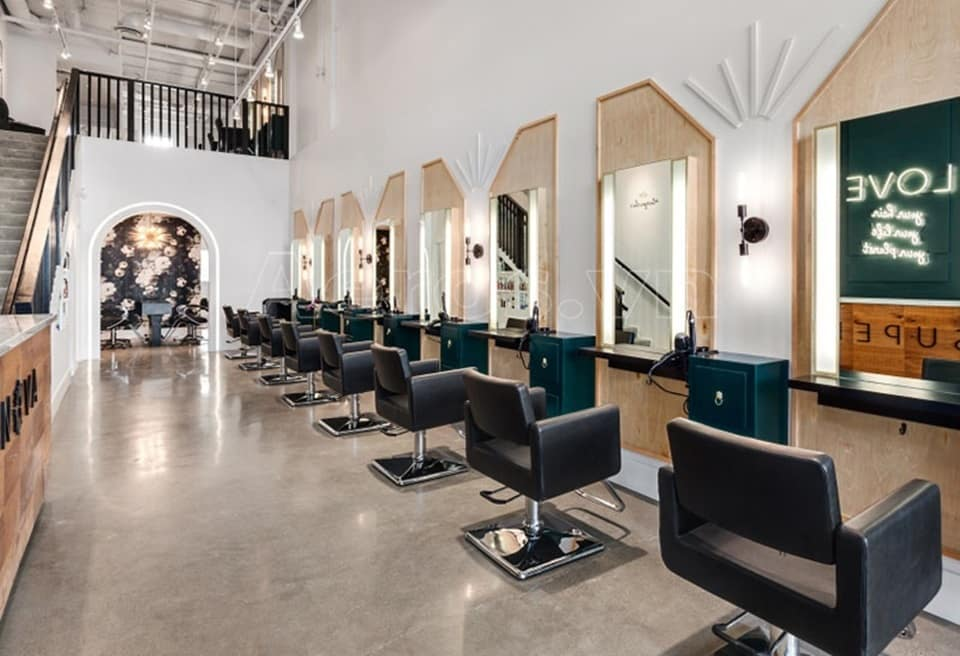 Mẫu salon tóc đẹp 6