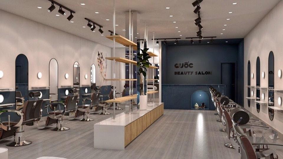 Thiết kế tiệm tóc nam hiện đại