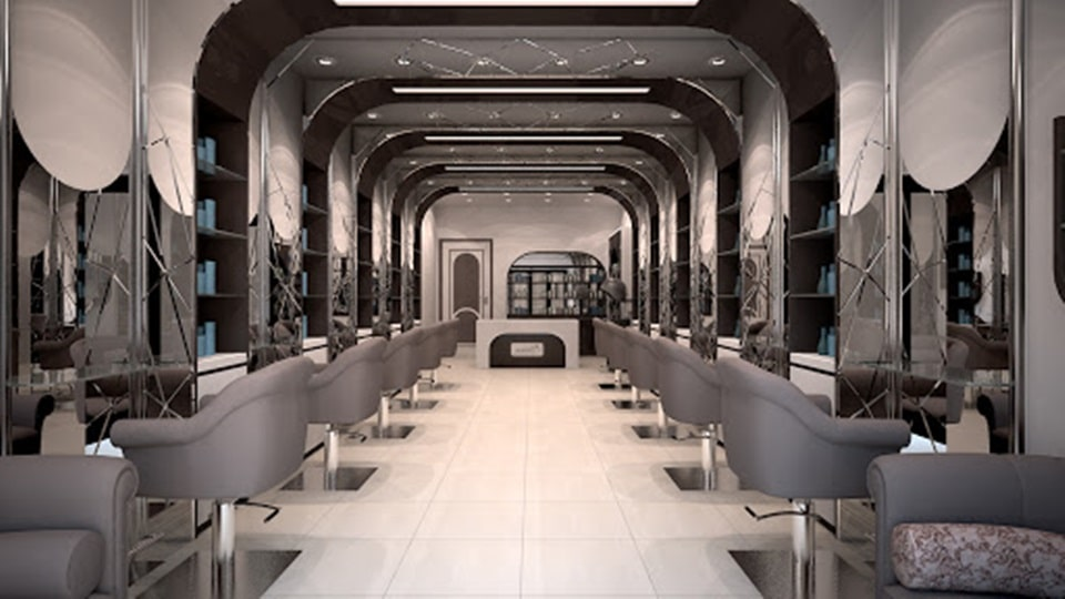 Thiết kế tiệm tóc hiện đại sang trọng