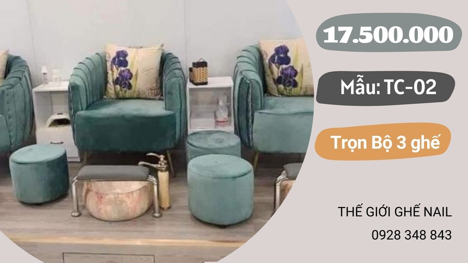 Ghế nails cao cấp bằng sofa đơn