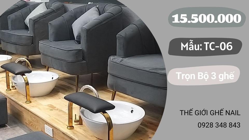 Trọn bộ 3 ghế nails giá rẻ